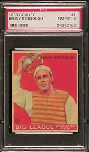 1933 Goudey Benny Bengough 001 PSA NM-MT 8