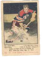 The color 1951 Parkhurst set<br> was the first modern hockey set.