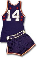 Bob Cousy's 1952 NBA All-Star uniform