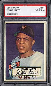 The 1952 Topps Mays was one of the first cards Bob submitted to PSA