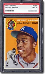 1954 Topps Hank Aaron PSA Graded NM 7.