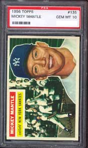 1956 Topps Mantle PSA GEM MT 10.