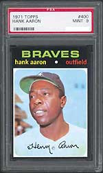 Set collecting is starting to make a comeback, the 1971 Topps set has been hot