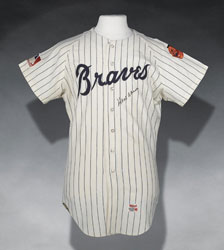 1969 Hank Aaron home game used jersey - MEARS A-10