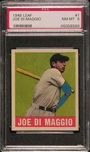 1948 Leaf Joe DiMaggio PSA  8