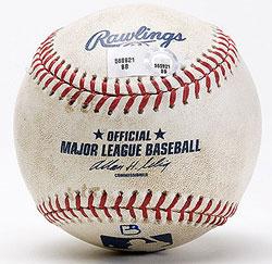 Barry Bonds #755 Home Run Ball