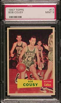 No Mint Cousy rookies were found, the card is very tough
