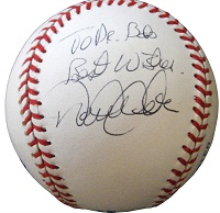 Derek Jeter Inscribed Baseball