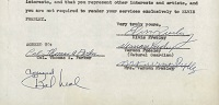 Elvis Presley Signed Contract