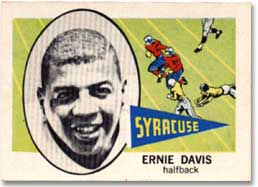 Possibly the more rare find would be Davis' college sportscard.