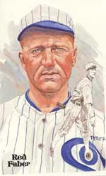 Here's an original Perez-Steele card featuring the Hall of Fame pitcher Red Faber