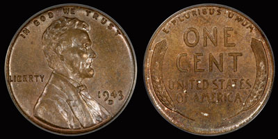 PCGS-Certified 1943-D Bronze Cent Sold For $1 7 Million