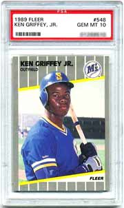 An '89 Griffey Jr. Fleer #548, is currently listed at $1650, <br>in the April 2000 SMR.