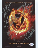 Hunger Games Cast Signed Poster