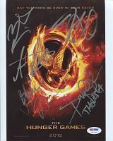 Hunger Games Cast Signed Poster