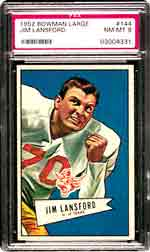 The key card to the popular 1952 Bowman Large set in PSA NM-MT 8 <br> will be sold by Superior on March 9.