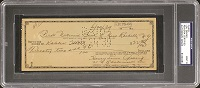 Lou Gehrig Signed Check