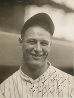 Lou Gehrig Signed Photo