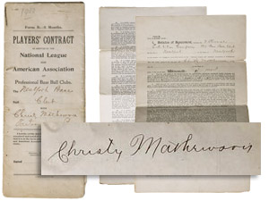 Mathewson Rookie contract