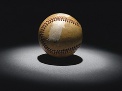 Mickey Mantle's 500th home run baseball