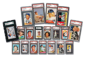 Lot 16 and 827 - Array of High Grade Mickey Mantle Cards