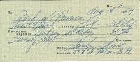 Marilyn Monroe Signed Check