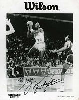 Michael Jordan Signed Wilson Photo