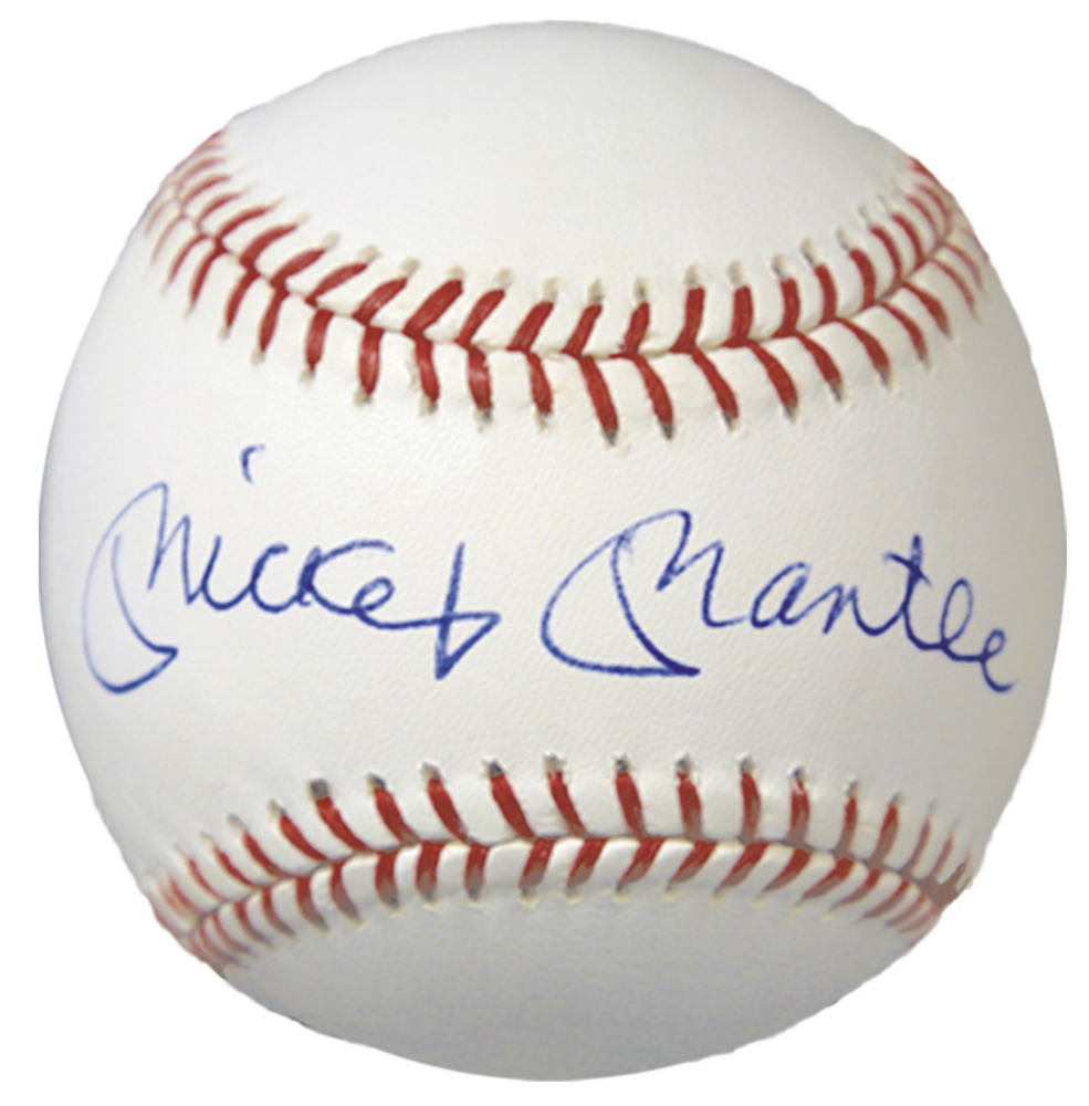 Mickey Mantle Replica Signed 1980/'s American League Baseball