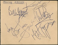 Rolling Stones Signed Album Page