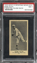 1915 Babe Ruth M101-5 Sporting News rookie #151 - PSA NM 7