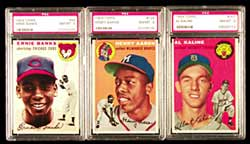 Probably the best set being offered,<br>lot 1017, a 1954 Topps Baseball Set<br>with PSA Graded Cards.