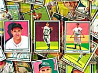 A sampling of lot 1048, a complete1952 Bowman Baseball set.