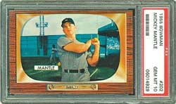 1955 Bowman Mickey Mantle, PSA Gem Mint 10