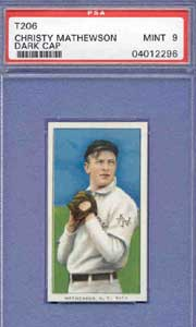 T206 Christy Mathewson (Dark Cap) PSA Mint 9 sells for $29,482