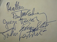 The Beatles Signed Page