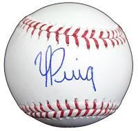 Yasiel Puig Signed Baseball