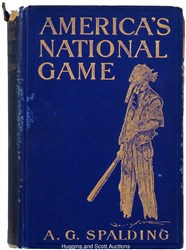 'America's National Game' book signed by A.G. Spalding