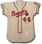This 1950s Hank Aaron jersey sold for over $40,000.