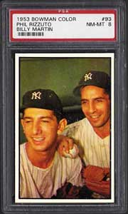 Phil Rizzuto, Billy Martin 1953 Bowman #93