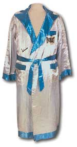 This robe, worn by Muhammad Ali when he took on Smokin' Joe in The Thriller in Manila, sold for $81,812