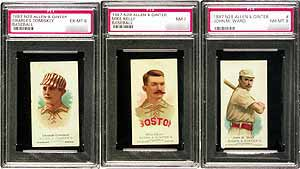 The 1887 set included 50 different cards, ranging from ten baseball players to ten oarsmen, from wrestlers and pugilists to Buffalo Bill and Annie Oakley.