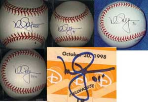 Various authentic McGwire signatures