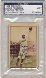 Autographed Jackie Robinson Card