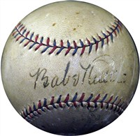 Babe Ruth and Al Capone Signed OAL (Harridge) Baseball