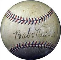 Babe Ruth and Al Capone Signed OAL (Harridge) Baseball