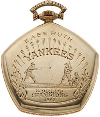 1923 New York Yankees World Championship Watch Presented to Babe Ruth
