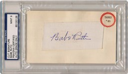 Babe Ruth cut signature