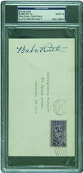Babe Ruth Signed Envelope