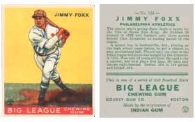 High grade 1933 Goudey #29 Jimmy Foxx cards are extremely difficult to find.