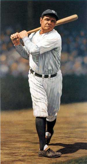 Babe Ruth, courtesy of A.K. Miller